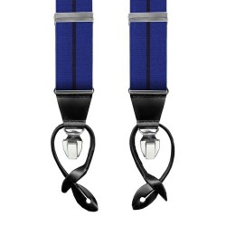 Leyva suspenders, Blue-Black