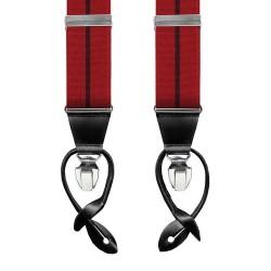 Leyva men's red braces with...