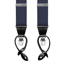 Leyva suspenders, Navy-Withe