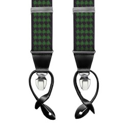 Leyva men's plaid print braces
