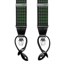 Leyva suspenders,  Navy-Green