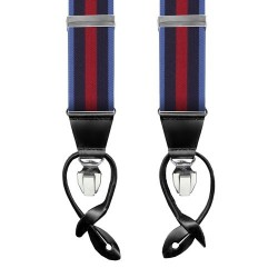 Leyva suspenders, Navy-Blue-Red