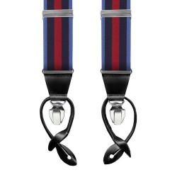 Leyva suspenders,  Navy-Blue-Red