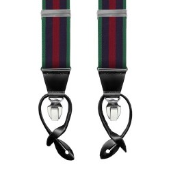 Leyva suspenders, Green-Navy-Red