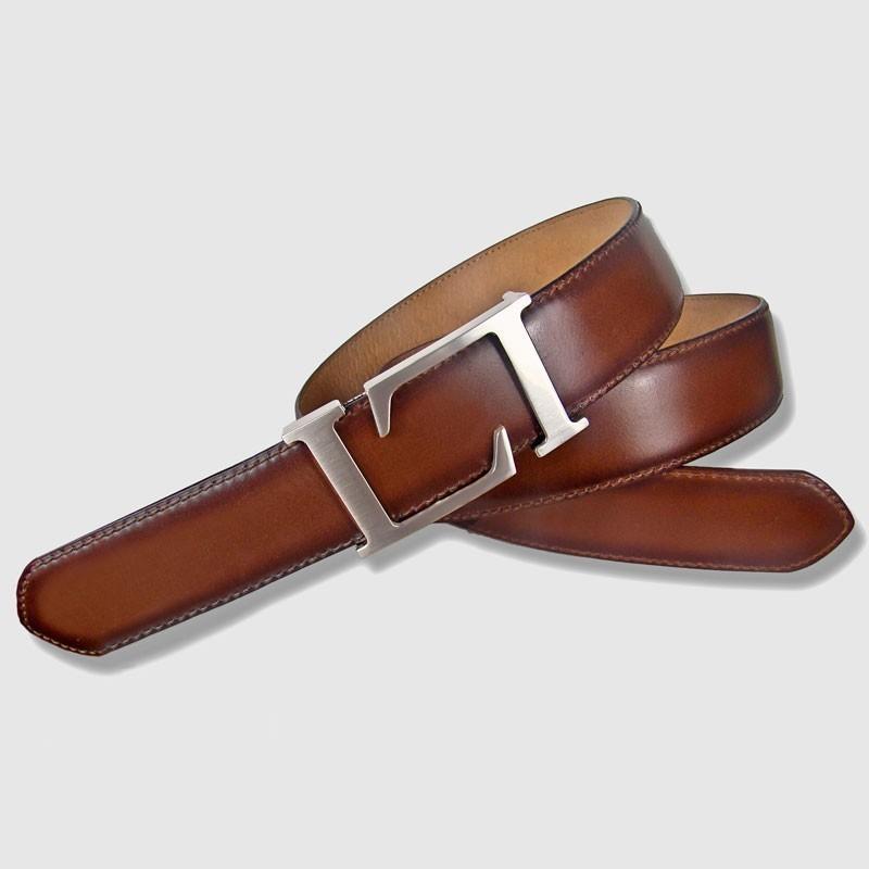 Cinturón de piel coñac, 35mm Toro