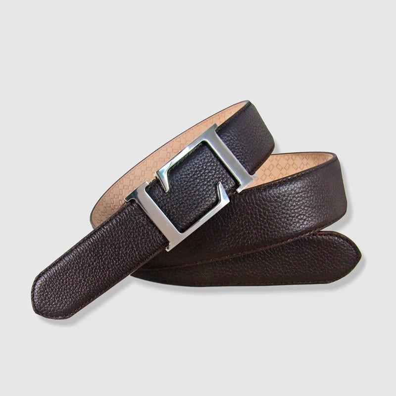 Cinturón de piel marrón, 35mm Crispado