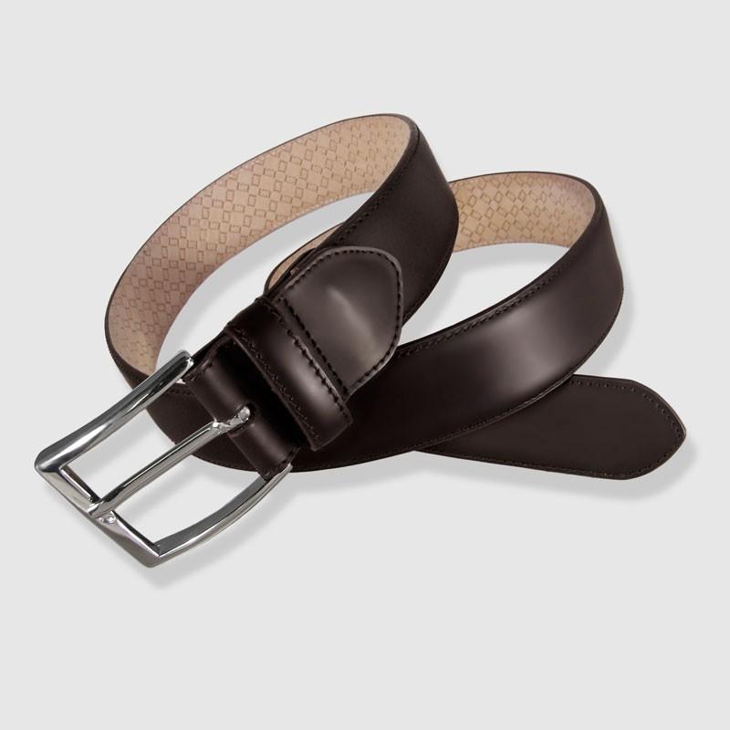"""Cinturón de piel marrón, 32mm Novo Antic"""""""