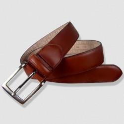 Leather Belt, cognac color, 35mm Cowhide
