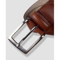 Cinturón de piel coñac, 35mm Vaquetilla
