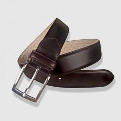 Cinturón de piel marrón, 35mm Vaquetilla