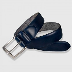 Leather Belt, navy color, 35mm Cowhide