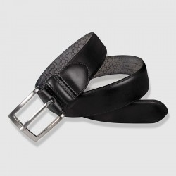 Leather Belt, black color, 35mm Cowhide