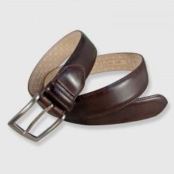 Leather Belt, brown color, 35mm Bull