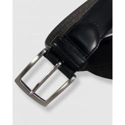Cinturón de piel negro, 35mm Toro
