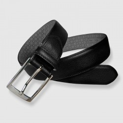 Leather Belt, black color, 35mm Grain