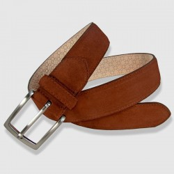 Leather Belt, cognac color, 35mm Napped