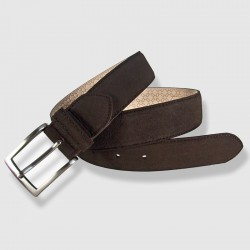 Leather Belt, brown color, 35mm Napped