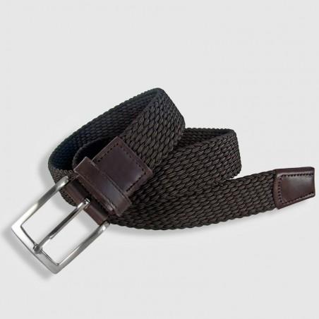 Cinturón elástico marrón de 35mm