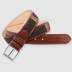 Leather Belt, brown and cognac color