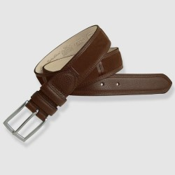 Leather Belt, cognac color