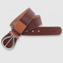 Cinturón de piel color coñac