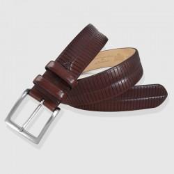Cinturón piel color coñac