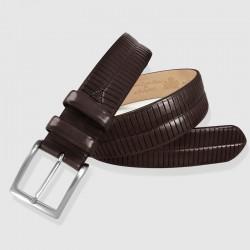Cinturón piel color marrón