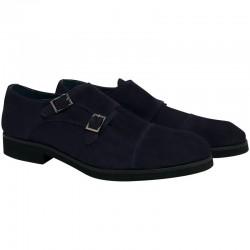 Zapato Leyva de piel color azul