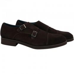 Zapato Leyva de piel color marrón