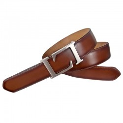 Leyva man belt in bull skin