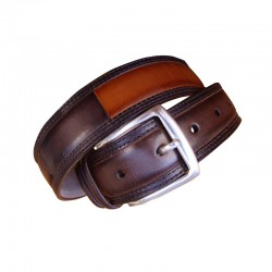 Leyva men's leather belt in...