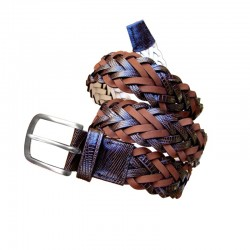 Braided Leyva men's leather...