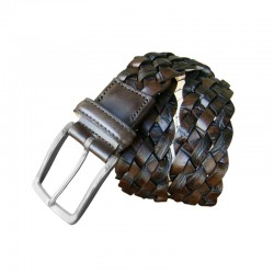 Braided Leyva leather belt...