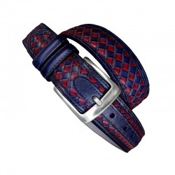 Leyva men's belt in red and...