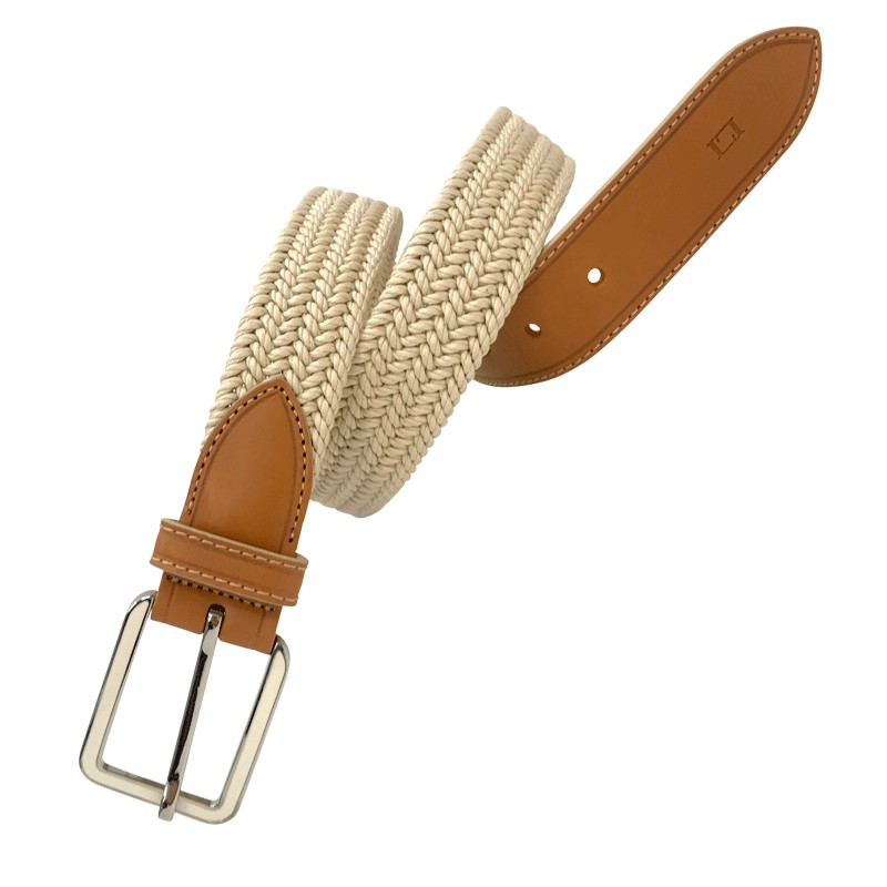Cinturón de señora trenzado elástico  LEYVA