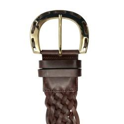 Cinturón de señora trenzado de piel de vacuno LEYVA