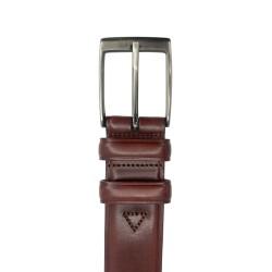 Cinturón de piel de Vaquetilla de hombre LEYVA