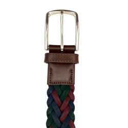 Cinturón trenzado de piel de Vaquetilla de hombre LEYVA