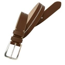 Cinturón de piel Nobuck de hombre LEYVA