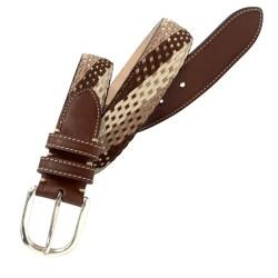Cinturón trenzado de piel vacuno de hombre LEYVA