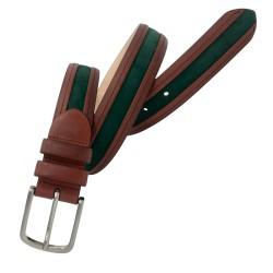 Cinturón de piel de Vaquetilla y Nobuck de hombre LEYVA