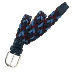 Cinturón trenzado de piel de Nobuck de hombre LEYVA