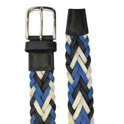 Cinturón trenzado de piel de Napa de hombre LEYVA