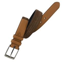 Cinturón de piel Nobuck y Napa de hombre LEYVA