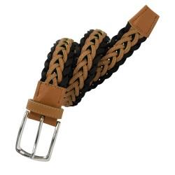 Cinturón trenzado de piel, de hombre LEYVA