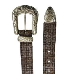 Cinturón de piel de Vacuno corte de hombre LEYVA