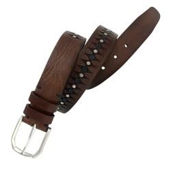 Cinturón de piel envejecida de hombre LEYVA