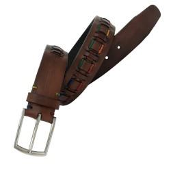 Cinturón de piel de vacuno de hombre LEYVA