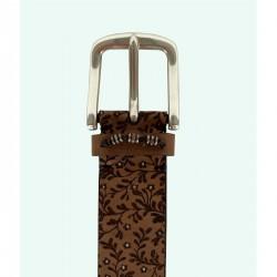 Cinturón de señora de piel de vacuno LEYVA