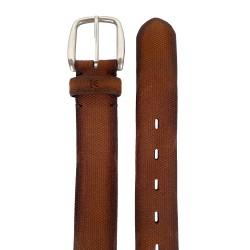 Cinturón piel Nobuck crispado, de hombre LEYVA